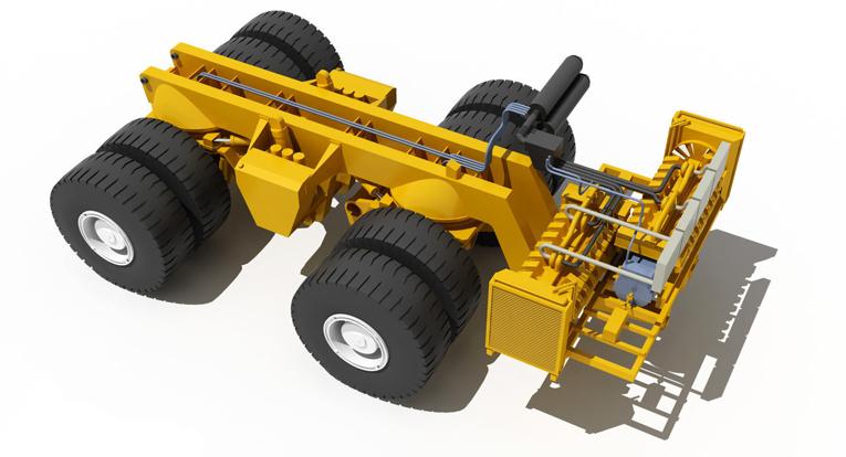 Белаз-75131-3D-модель-рамы